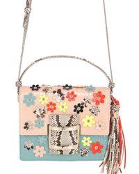 Roger Vivier | Multicolor Mini Viv Flower Leather & Python Bag | Lyst