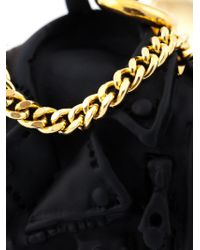 Moschino - Metallic Biker Bag Clip-on Earrings - Lyst