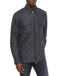 Rag & Bone Gray Long-sleeve Quilted Shirt Jacket for men