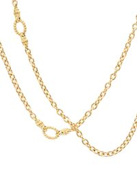 Lagos - Metallic Covet 18k Gold Chain Necklace With Circle Stations - Lyst