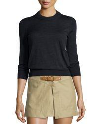 Isabel Marant - Black Merino Wool Crewneck Sweater - Lyst