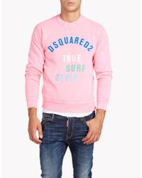 DSquared² | Pink Dean Fit Sweatshirt for Men | Lyst