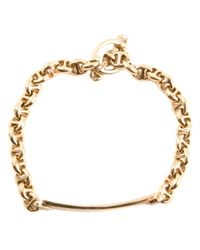 Hoorsenbuhs | Metallic Diamond Monogram Link Bracelet | Lyst