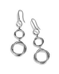 David Yurman Metallic Infinity Triple-Drop Earrings