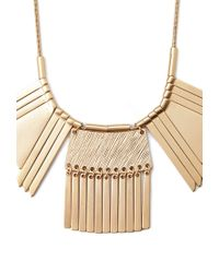 Forever 21 Metallic Geo And Matchstick Statement Necklace