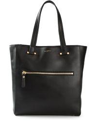 Moreschi Black Zipped Front Pocket Tote Bag