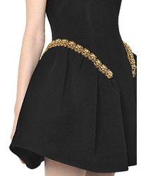 Simone Rocha Black Bonded Wool & Neoprene Dress