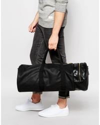 ASOS - Barrel Bag In Black With Gold Zips for Men - Lyst