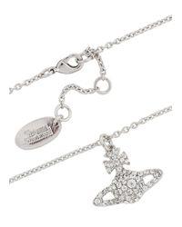 Vivienne Westwood - Metallic Grace Bas Silver Tone Swarovski Necklace - Lyst