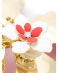 Rosie Assoulin   Red Oversized Enamel Flower Earrings   Lyst