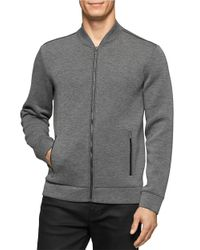 Calvin Klein | Gray Heathered Zip Up for Men | Lyst