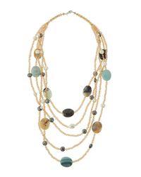 Panacea - Multicolor Five-layer Station Statement Necklace - Lyst