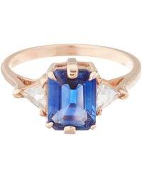 Anna Sheffield Pink Blue Sapphire Bea Ring