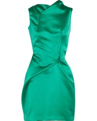 Roland Mouret Green Zonda Satin Dress