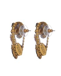 Erickson Beamon Black Hyperdrive Earrings