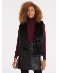 Oasis   Black Short Glam Faux Fur Gilet   Lyst
