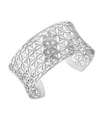 Effy | Metallic Diamond And Sterling Silver Cuff Bracelet | Lyst