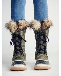 Free People - Gray Joan Of Arctic Weather Boot - Lyst