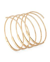 Mattia Cielo - Metallic Five-row Diamond Wrap Bracelet - Lyst