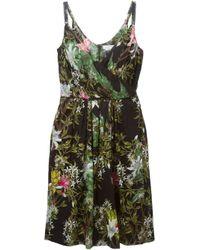 Étoile Isabel Marant - Faded Black Floral Slaze Dress - Lyst