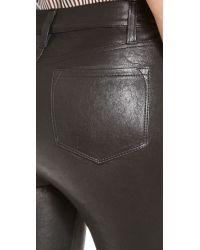 J Brand Black Maria High Rise Leather Pants