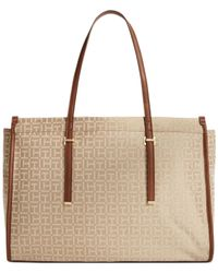 Tommy Hilfiger Natural H Group Monogram Jacquard Shopper