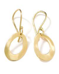 Ippolita | Metallic 18k Gold Wavy Oval Earrings | Lyst