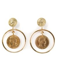 Dolce & Gabbana - Metallic Roman Coin Earrings - Lyst