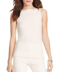 Ralph Lauren | White Lauren Wool-blend Sleeveless Sweater | Lyst