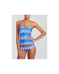 Shoshanna Multicolor Baja Ikat Ring Tankini Top