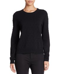 424 Fifth | Black Textured-dot Pullover | Lyst