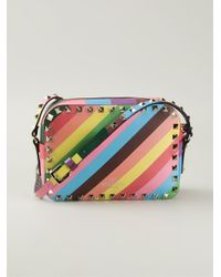 Valentino - Multicolor 'Rockstud' Crossbody Bag - Lyst