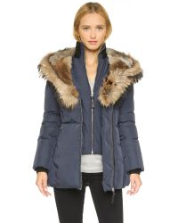 Mackage | Blue Akiva Coat | Lyst
