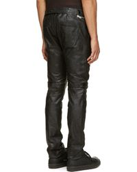Rick Owens - Black Leather Aircut Trousers for Men - Lyst