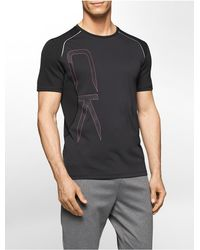 Calvin Klein - Black White Label Performance Classic Fit Oversized Logo Short Sleeve Shirt for Men - Lyst