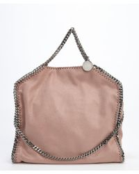 Stella McCartney - Pink Cipria Faux Suede Falab Braided Chain Detail Shoulder Bag - Lyst