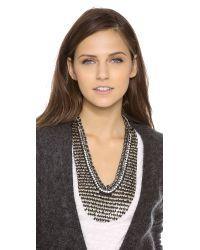 Deepa Gurnani - Metallic Two Tone Armor Necklace - Lyst