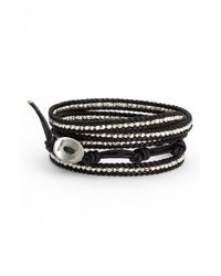 Chan Luu | Black Beaded Leather Wrap Bracelet | Lyst