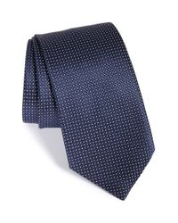Ermenegildo Zegna - Blue Grid Silk Tie for Men - Lyst