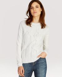 Karen Millen | White Sweater Extreme Cable Knit | Lyst