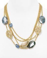 Alexis Bittar | Blue Crystal Agate Labradorite Multichain Bib Necklace 2024 | Lyst