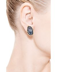 Kimberly Mcdonald - Blue One Of A Kind Dark Geode Clip On Earrings - Lyst