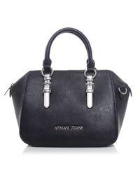 Armani Jeans | Black Metallic Strap Doctor's Bag | Lyst