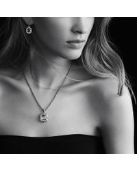 David Yurman - Metallic Dy Signature Oval Pendant with Moon Quartz and Diamonds - Lyst