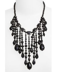 Lauren by Ralph Lauren | Black 'jet' Crystal Bib Necklace | Lyst