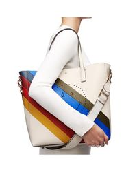 Anya Hindmarch White Ebury Featherweight Sporty Smiley Tote