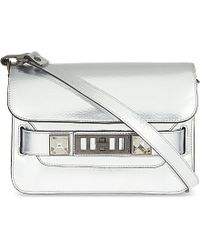 Proenza Schouler | Metallic Ps11 Mini Leather Satchel | Lyst