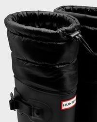 Hunter | Black Women's Original Tall Quilted Cuff Rain Boots | Lyst