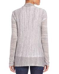 Splendid - Gray Space Dyed Cardigan - Lyst