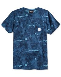 Wesc Blue Sarek Hawaiian Pocket T-shirt for men